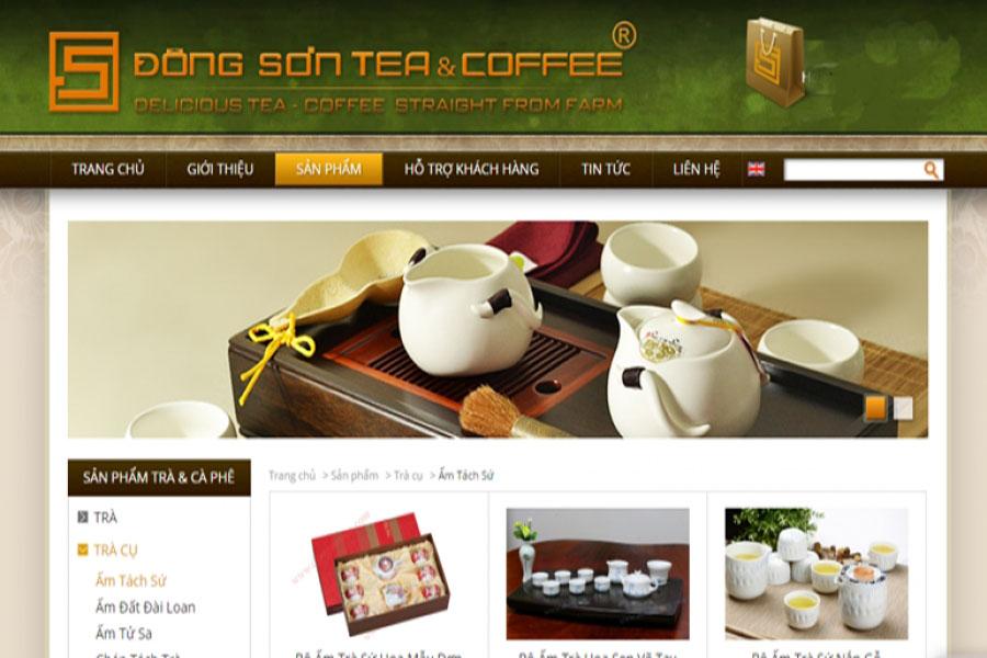 web bán trà