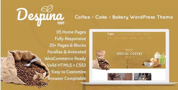 Despina - Mẫu web bán trà cho phép bạn tối ưu theo phong cách.