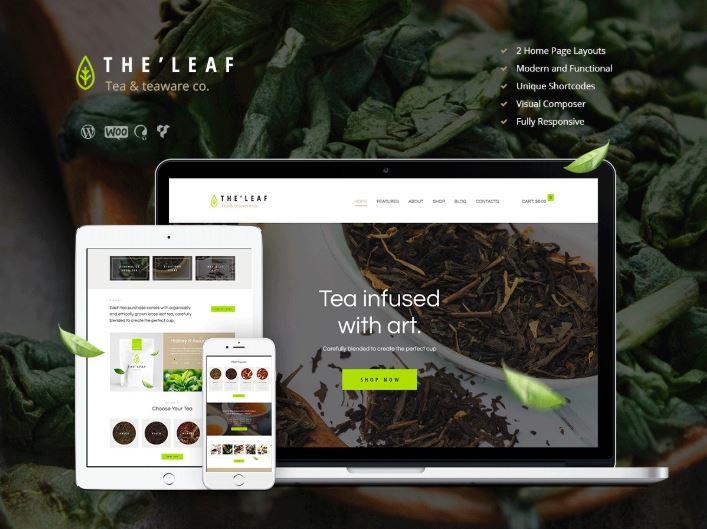 TheLeaf - Theme giới thiệu và kinh doanh trà online.
